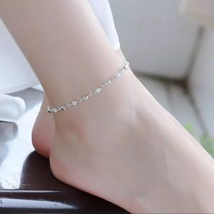 Sterling Silver 925 Anklet Chain